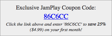 JamPlay coupon code