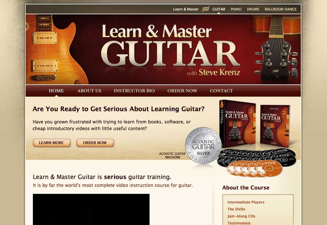 Learn and Master Guitar review sidebar